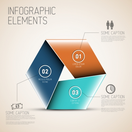 Vector Abstract shape with Infographic elements Stock Vector - 19108304