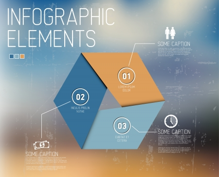 Vector Infographic elements no abstract background Vector