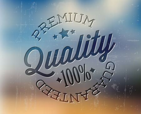 star quality: Vector retro premium quality detailed stamp on an abstractact background Illustration