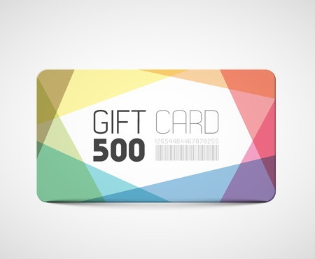 discount coupon: Modern gift card template - abstract overlay effects Illustration