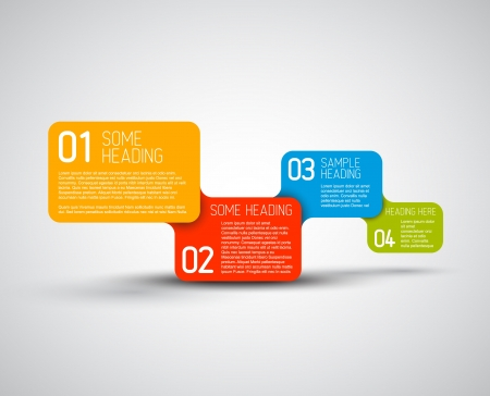 possibility: Set of colorful Vector steps  options template