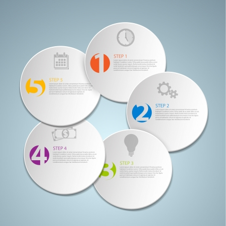 possibility: Set of round Vector steps  options  infographics template