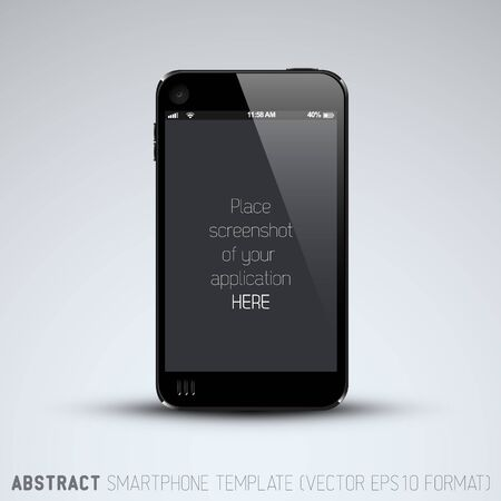Abstract mobile phone template with place for your application screenshot Vector