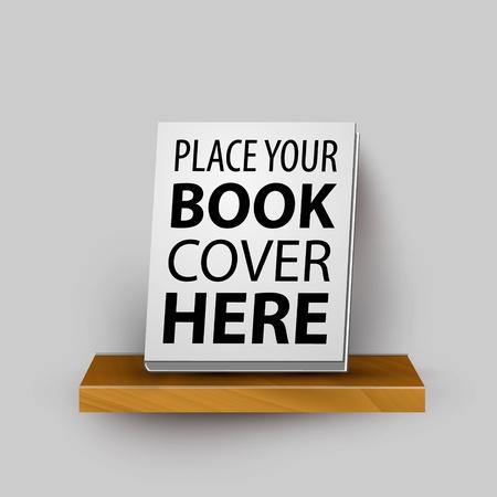 Holz realistisch Bücherregal Vorlage mit Ihrem Produkt Bestseller Buch Standard-Bild - 20617147