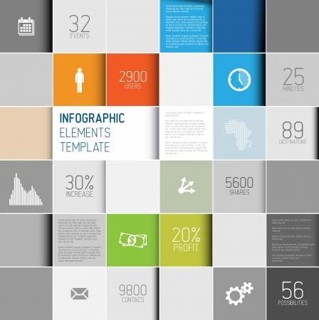 plantilla: cuadrados abstractos ilustración  infografía fondo de la plantilla con lugar para el contenido