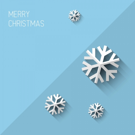Modern simple minimalistic christmas card with flat design Illustration