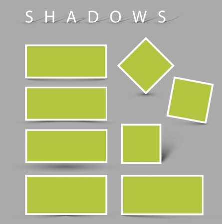Set of shadow effects - white cards with realistic shadows Vector