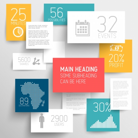 research paper: abstract squares background illustration  infographic template with place for your content