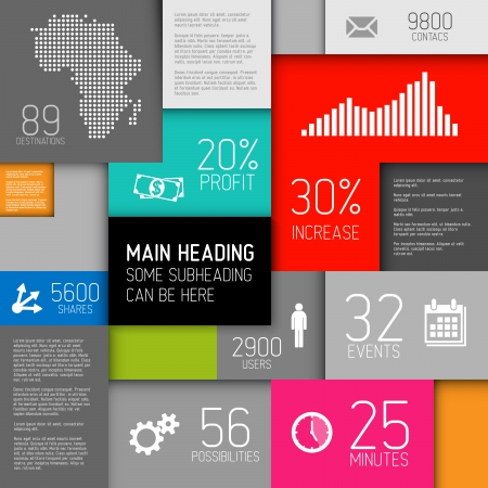 abstract boxes background illustration / infographic template with place for your content Vector