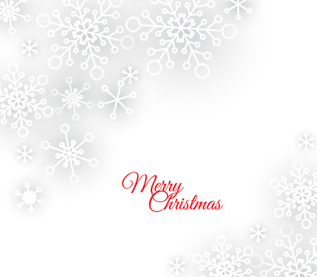 white abstract Christmas background with white snowflakes Illustration