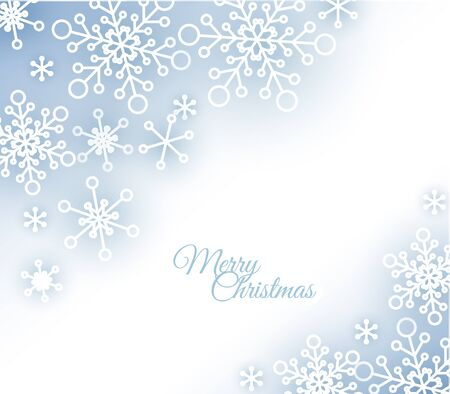 snowwhite: Christmas card with white snowflakes on the background Illustration