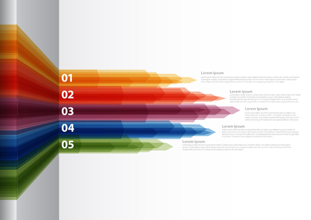 description: Rainbow colorful vector Paper Progress background  product choice or versions Illustration