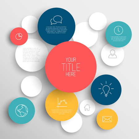 Vector abstract circles illustration / infographic template with place for your content Vector