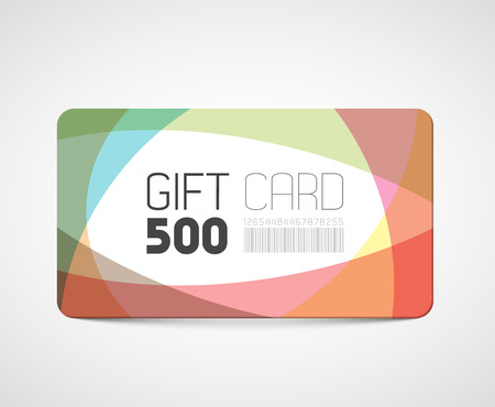 Modern gift card template - abstract overlay effects Vector