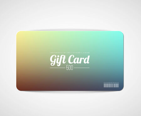flexible business: Modern minimalistic  gift card template with blurred background Illustration