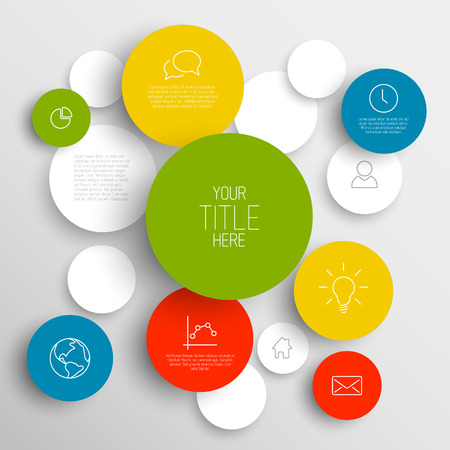 Vector abstract circles illustration  infographic template with place for your content Vector