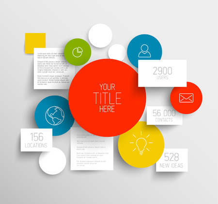 Vector abstract circles and squares illustration / infographic template with place for your content Vector