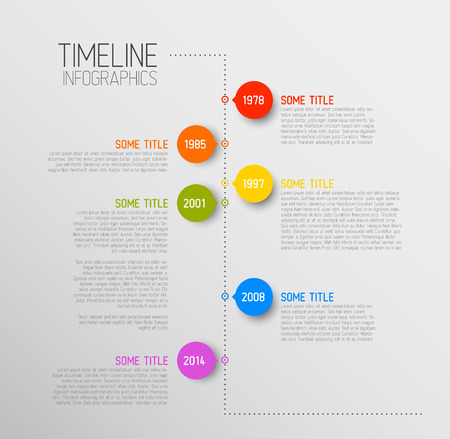 Vector Infographic timeline report template with icons Stock Vector - 27328362
