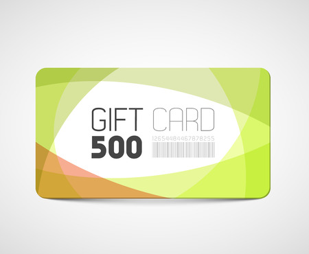 overlay: Modern gift card template - abstract overlay effects Illustration