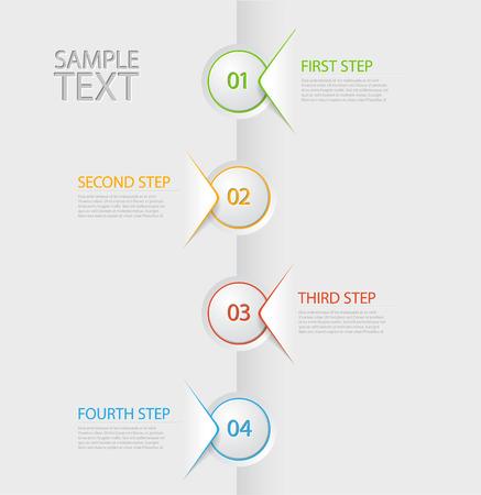 Vector Infografía plantilla de informe de línea de tiempo con iconos Vectores