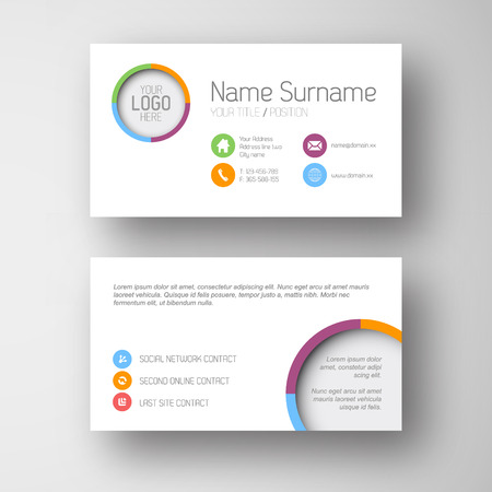 call card: Modern simple white  business card template with some placeholder