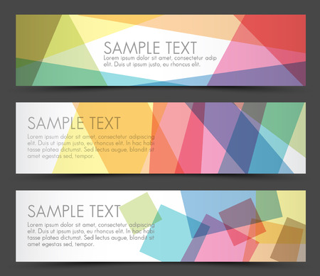 overlay: Simple colorful horizontal banners - with square motive