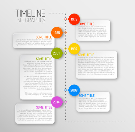 infographics template: Vector Infographic timeline report template with icons Illustration