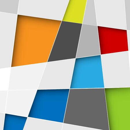 trapezoid: Vector abstract squares background illustration with place for your text