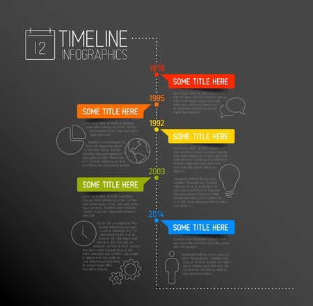 Infographic Templates free timeline infographic templates : Vector Infographic Timeline Report Template With Icons Royalty ...