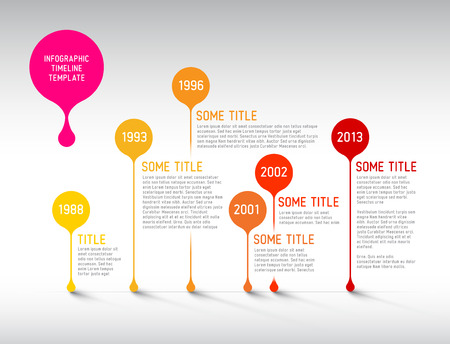 Vector Infographic timeline report template with bubbles Vector