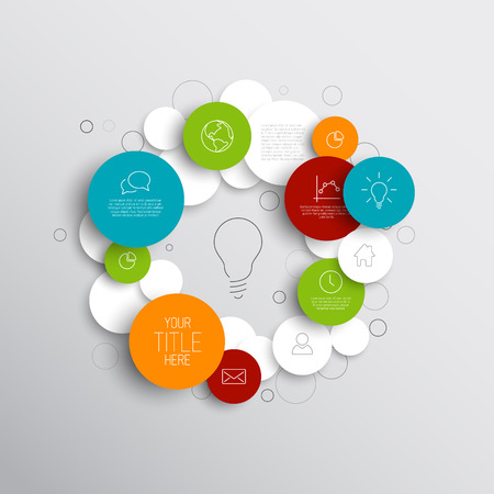 Vector abstract circles illustration  infographic template with place for your content