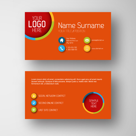 placeholder: Modern simple red  business card template with some placeholder