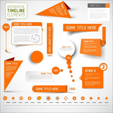 Vector Orange infographic timeline elements  template