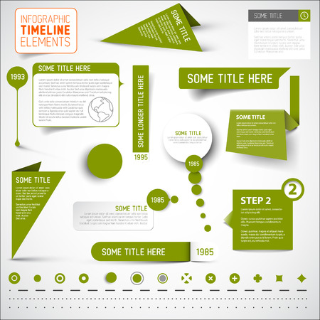 owning: Green infographic timeline elements template Illustration