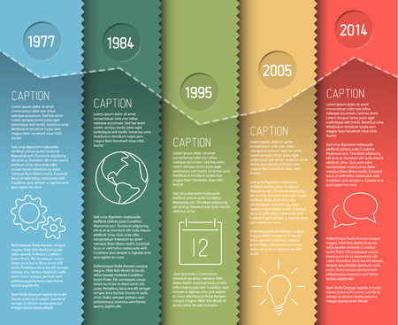 Infographic timeline report template with icons Illustration