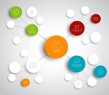 Vector mente abstracta correlación de plantilla infografía con lugar para el contenido