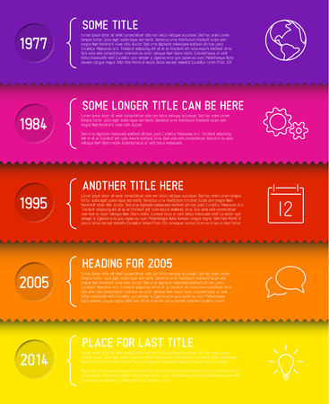 website header: Vector Infographic timeline report template with icons Illustration