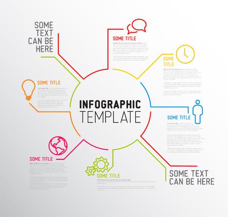 Infografik Vektor Berichtsvorlage aus Linien und Ikonen Standard-Bild - 29466255