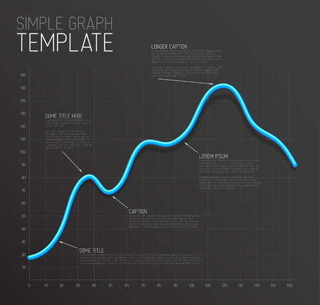 infographic line graph template royalty free cliparts vectors and