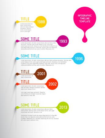 Colorful Infographie calendrier modèle de rapport avec des bulles Banque d'images - 29893154