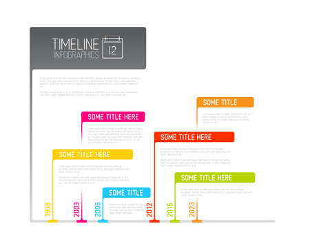 describing: Colorful  Vector Infographic timeline report template with flags