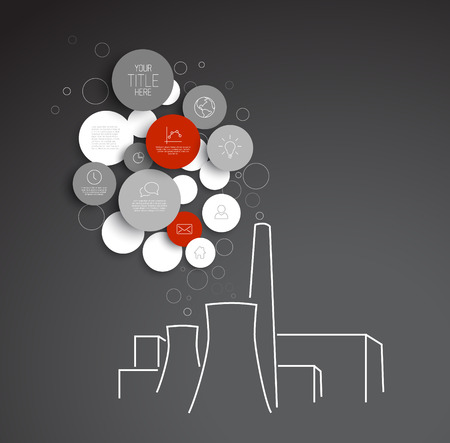 powerhouse: abstract circles pollution illustration