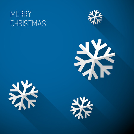 Modern simple minimalistic christmas card with flat design Vector