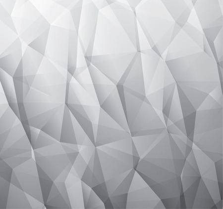 wrinkled paper: Abstract 3d gray vector background made from triangles Illustration