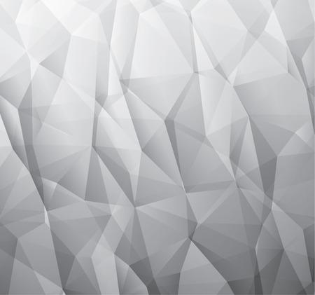 Abstracte 3d grijze vector achtergrond gemaakt van driehoeken