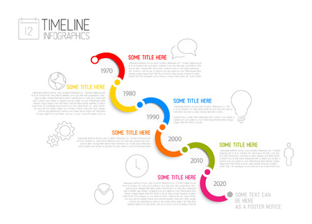 diagonal lines: Vector Infographic diagonal timeline report template with icons
