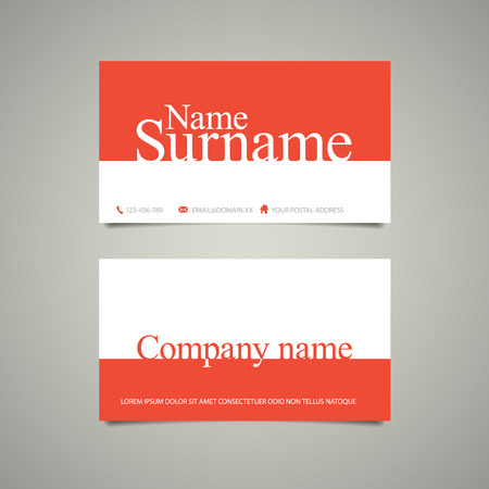 user name: Modern simple business card template with emphasize name and surname