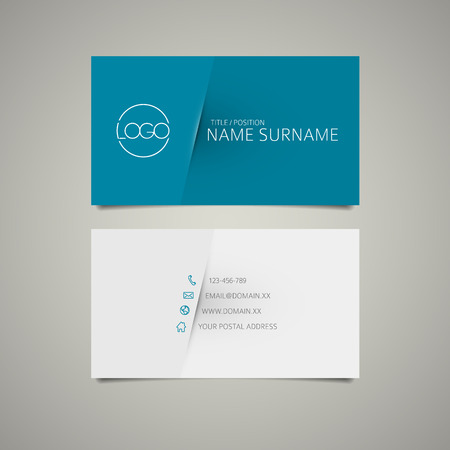 Modern simple business card template with place for your company name Illustration