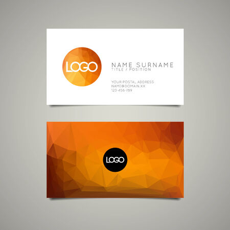 name template: Modern simple business card template with place for your company name Illustration