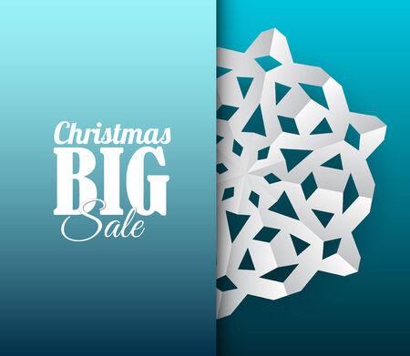 fiambres: papel de navidad copo de nieve en un fondo azul